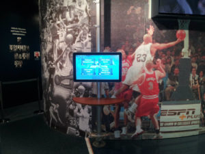 Penn State Sports Museum Kiosk
